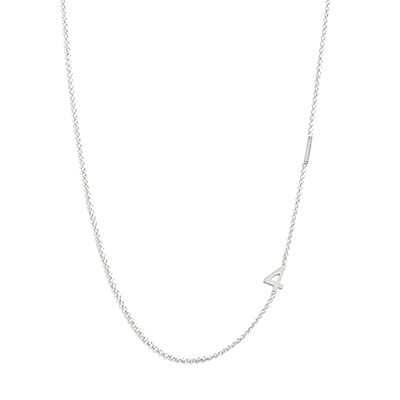 Personalized number jewelry - silver necklace at Julian & Co