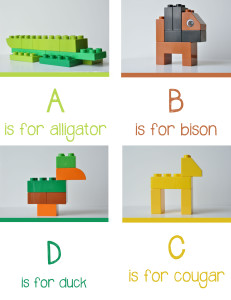 Lego Animal Alphabet from Playlearnlove | Cool Mom Picks