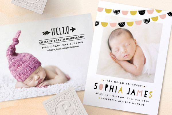 Minted birth announcements | Cool Mom Picks
