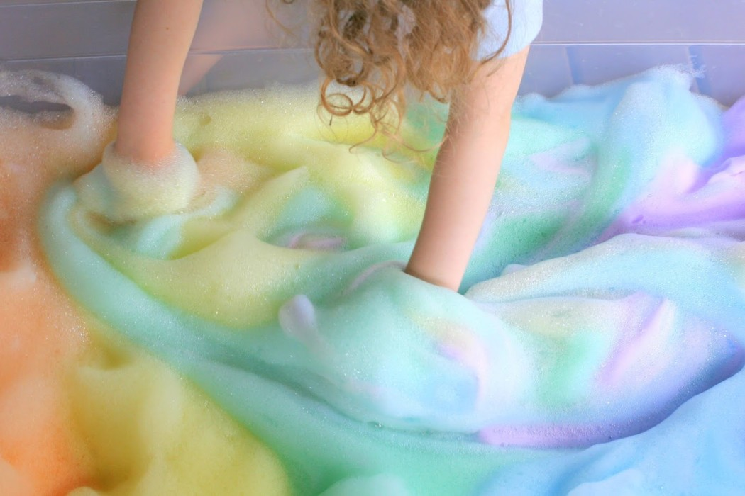 Rainbow Bubbles by Fun at Home with Kids | Cool Mom Picks