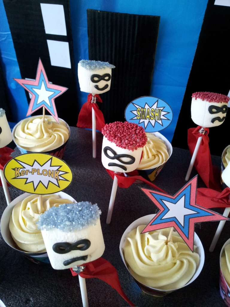 Superhero marshmallow cake pops - Look What I Made | Cool Mom Picks
