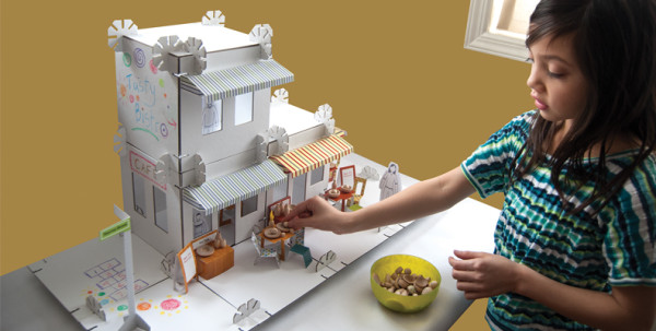 Urban Canvas City Stories Deluxe Dollhouse Kits | Cool Mom Picks