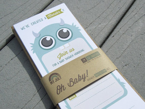 We've created a monster baby shower invitation - My July Etsy | Cool Mom Picks