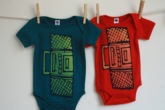 Cool boombox onesies for babies at Earth Cadets | Cool Mom Picks