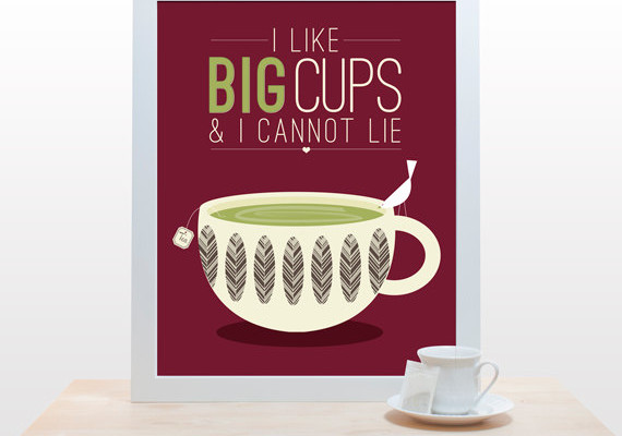 Coffee and tea typography poster - noodlehug | Cool Mom Picks