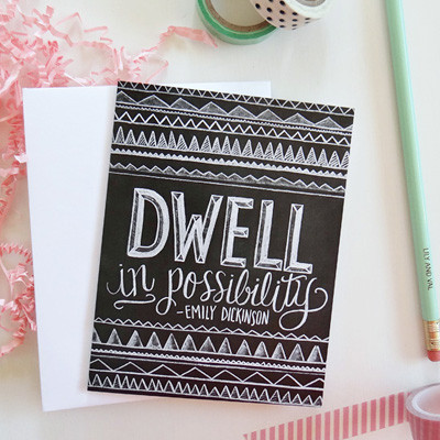 Dwell in Possibility note card at Lily and Val | Cool Mom Picks