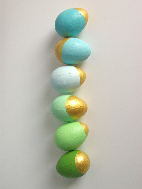 Easter Egg decorating ideas - gold and pastel at Land of Nod blog