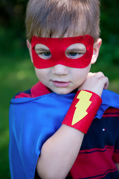 Handmade superhero costume - Sew Plain Jane | Cool Mom Picks