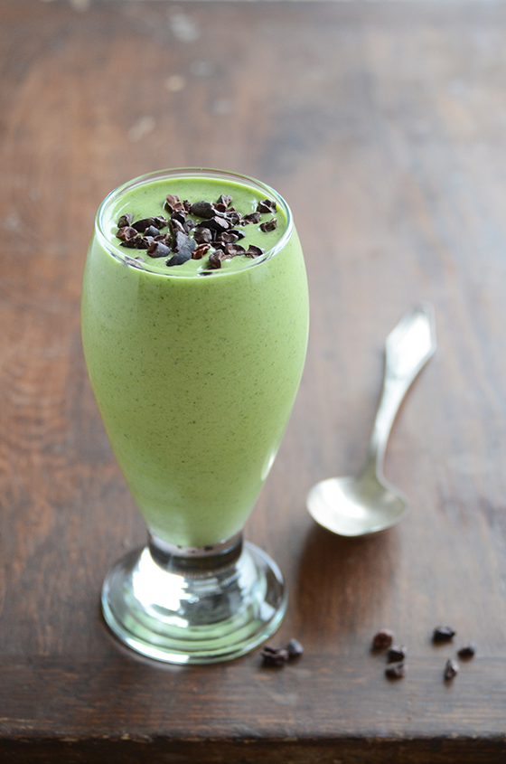 Healthy Copycat Shamrock Shake recipe at Edible Mosaic | Cool Mom Picks