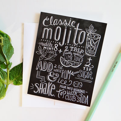 Mojito recipe card at Lily and Val | Cool Mom Picks