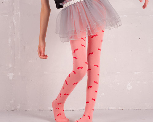 Mustache Tights for Girls from Funky Legs | Cool Mom Picks