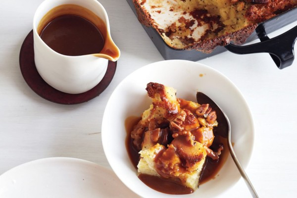 Best boozy desserts: Pecan Bourbon Butterscotch Bread Pudding at Epicurious