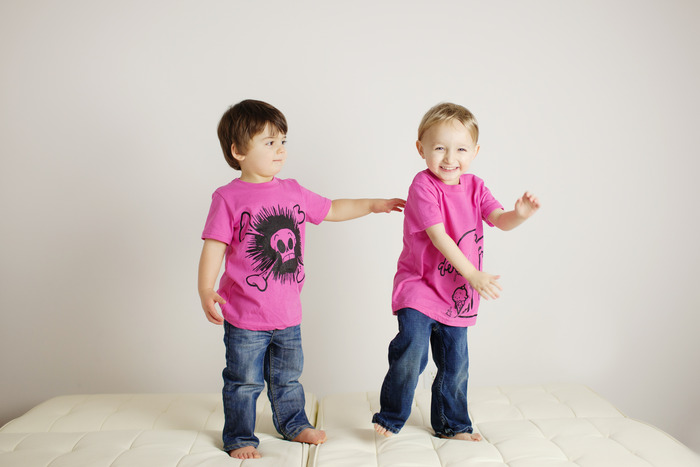 Pink tees for boys. Also girls, because we hear they like pink too.