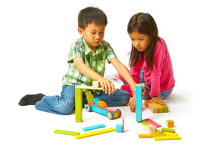 Tegu's new 130-piece magnetic block building set lets kids build to infinity and beyond.