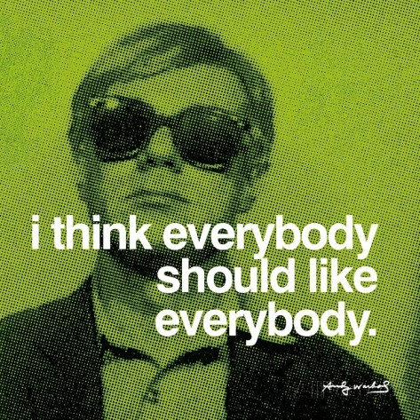Warhol Everybody Should Like Everybody print from All Posters | Cool Mom Picks