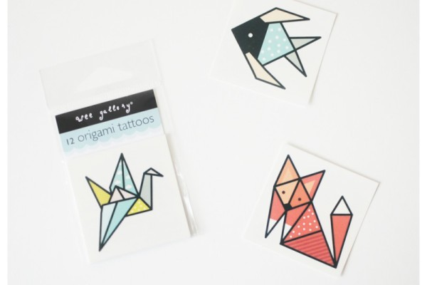 Wee Gallery origami temporary tattoos | Cool Mom Picks