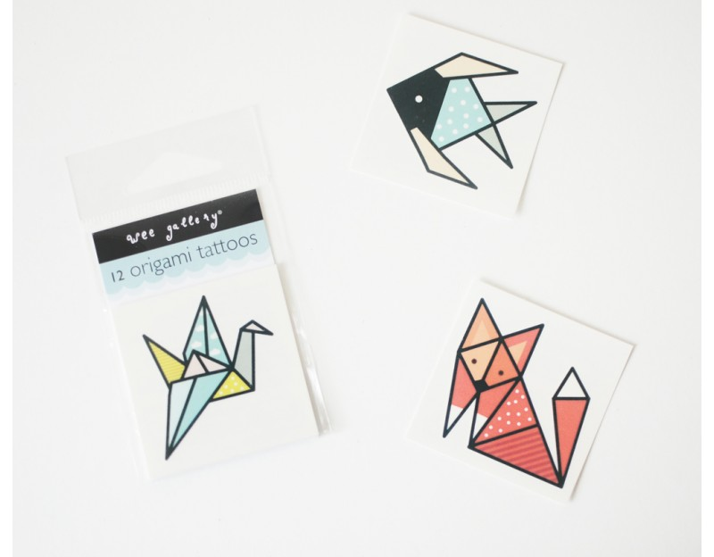 En-fold your skin in cool origami temporary tattoos