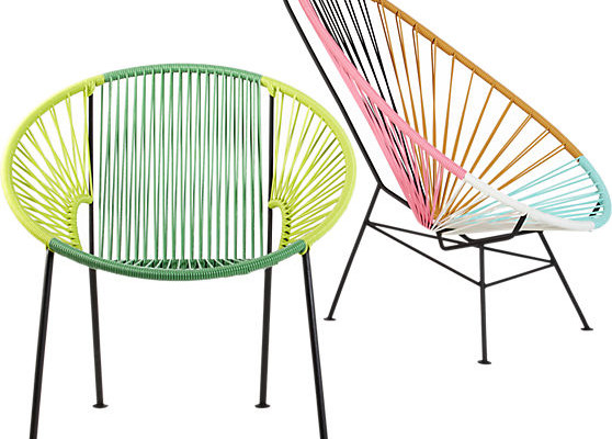 Acapulco Multi-colored Lounge Chair CB2 | Cool Mom Picks
