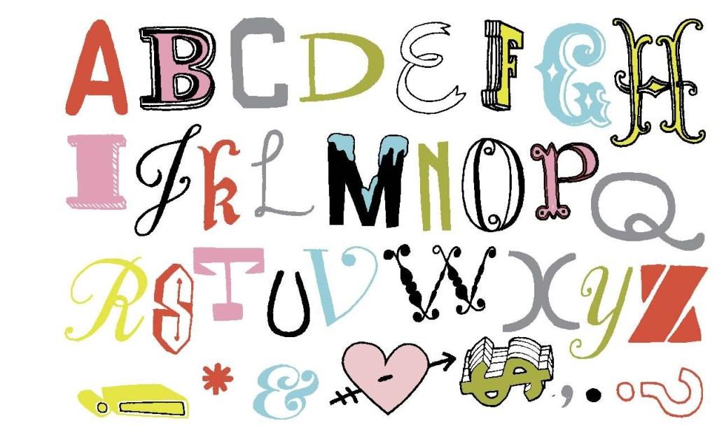 Cool alphabet iron-ons by Julia Rothman | Cool Mom Picks