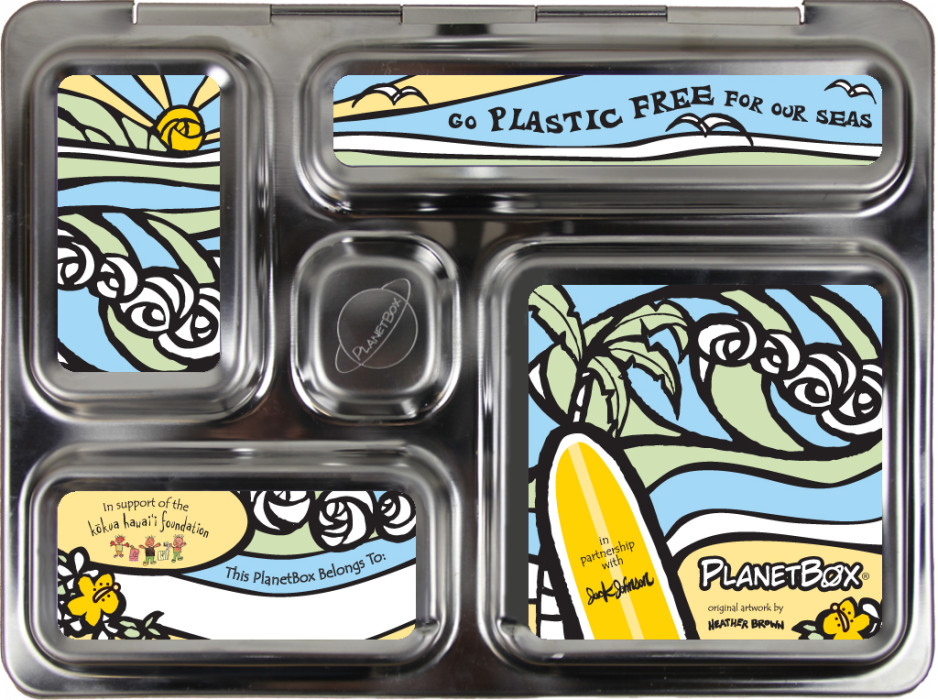PlanetBox lunch box Jack Johnson magnets for Earth Day