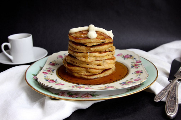 Easter recipes: Easter brunch Hot Cross Pancakes at Joy the Baker | Cool Mom Picks
