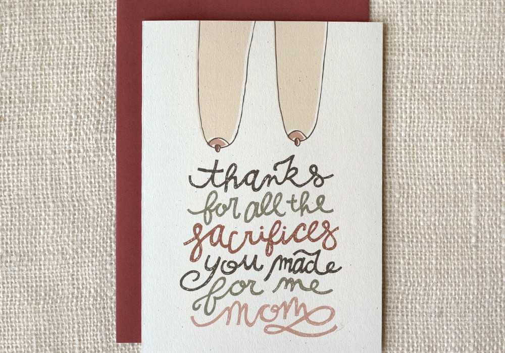 Funny Mother's Day cards: Mother's Day sacrifice