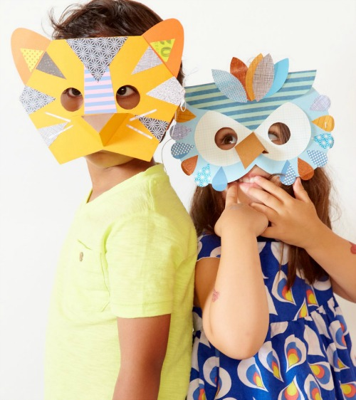 Book of crafts by Petit Collage: DIY Animal masks for kids