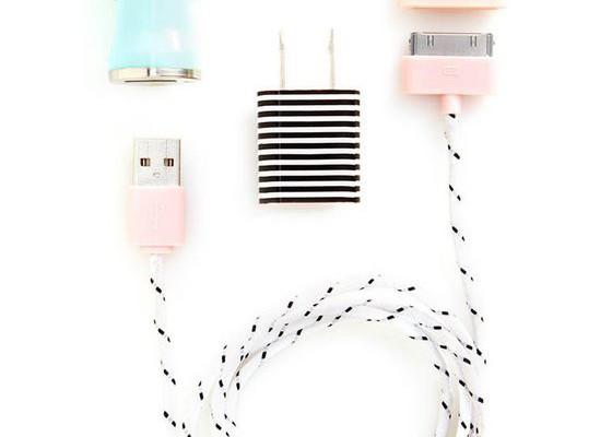 Pretty ban.do travel charger kit via Cool Mom Tech