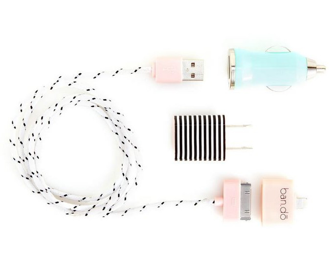 Pretty ban.do travel charger kit via Cool Mom Tech
