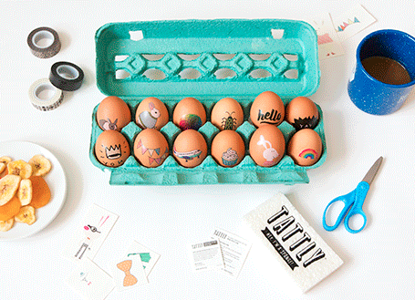 Tattooed Easter egg decorating diy project from Tattly