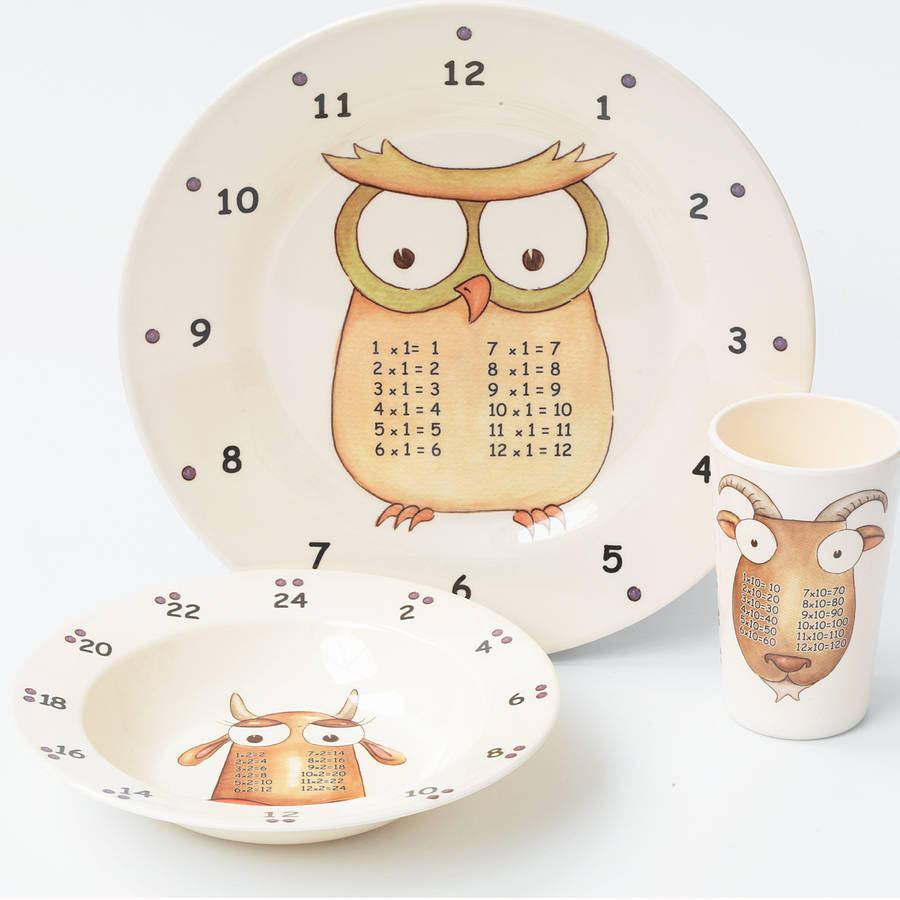Learning dishes for kids: The Multiples multiplication plates