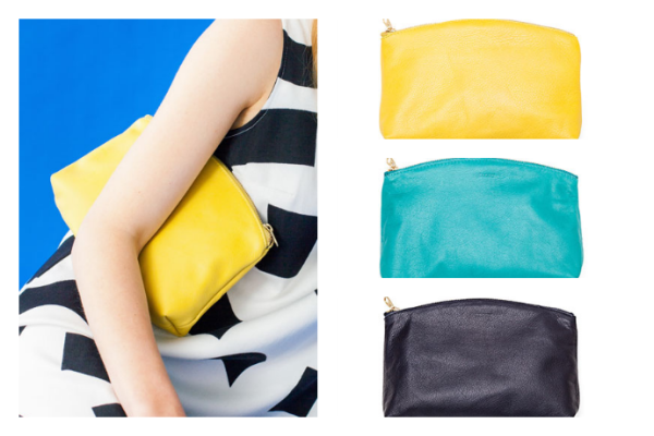 Baggu leather clutch | Cool Mom Picks