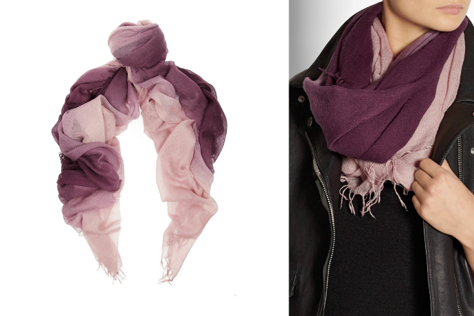 Splurge or steal: Cool ombre scarves for spring and how to wear them