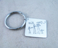 mother's day gift: child's artwork on a keychain  | cool mom picks