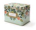 mother's day gift: floral tin recipe box filled with favorite family recipes  | cool mom picks