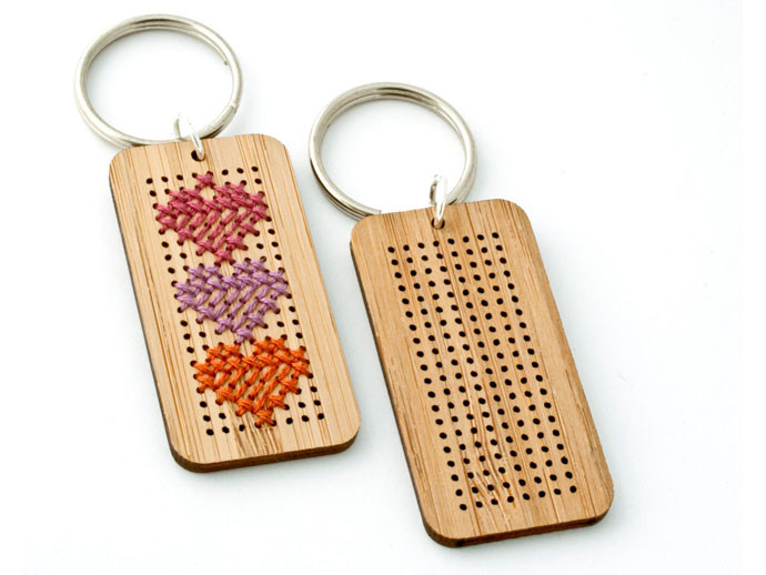mother's day gift: diy cross-stitch key chain  | cool mom picks