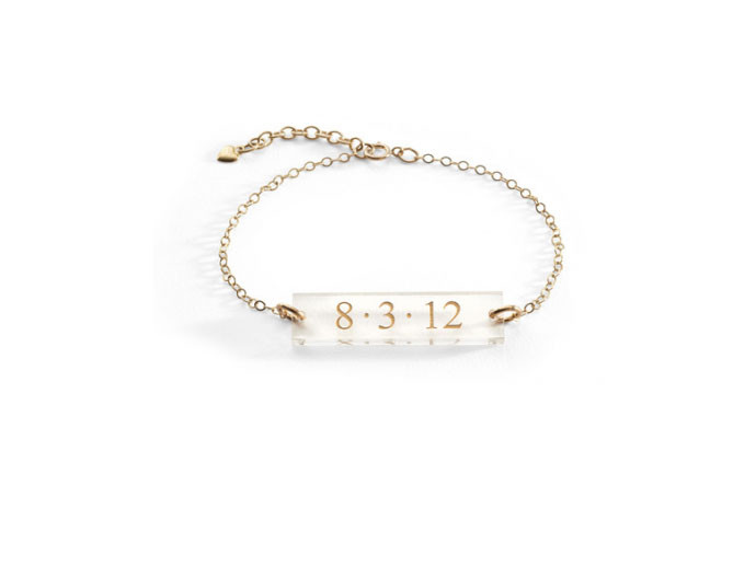 mother's day gift: personalized acrylic block bracelet  | cool mom picks