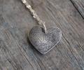 mother's day gift: custom heart fingerprint necklace | cool mom picks