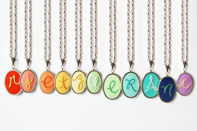 Custom gifts for mom: initial pendants by Merriweather Council on Hatch