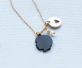 mother's day gift: custom silhouette charm necklace  | cool mom picks
