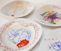 mother's day gift: diy decorated ceramic plates  | cool mom picks