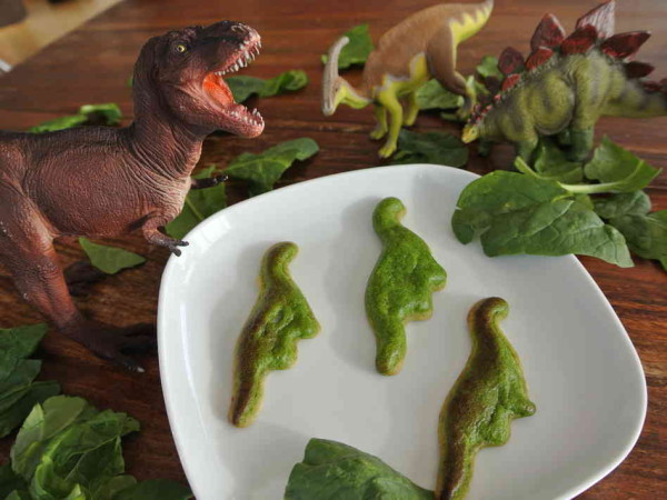 Dinosaur spinach quiches made with 3D food printer | Cool Mom Picks