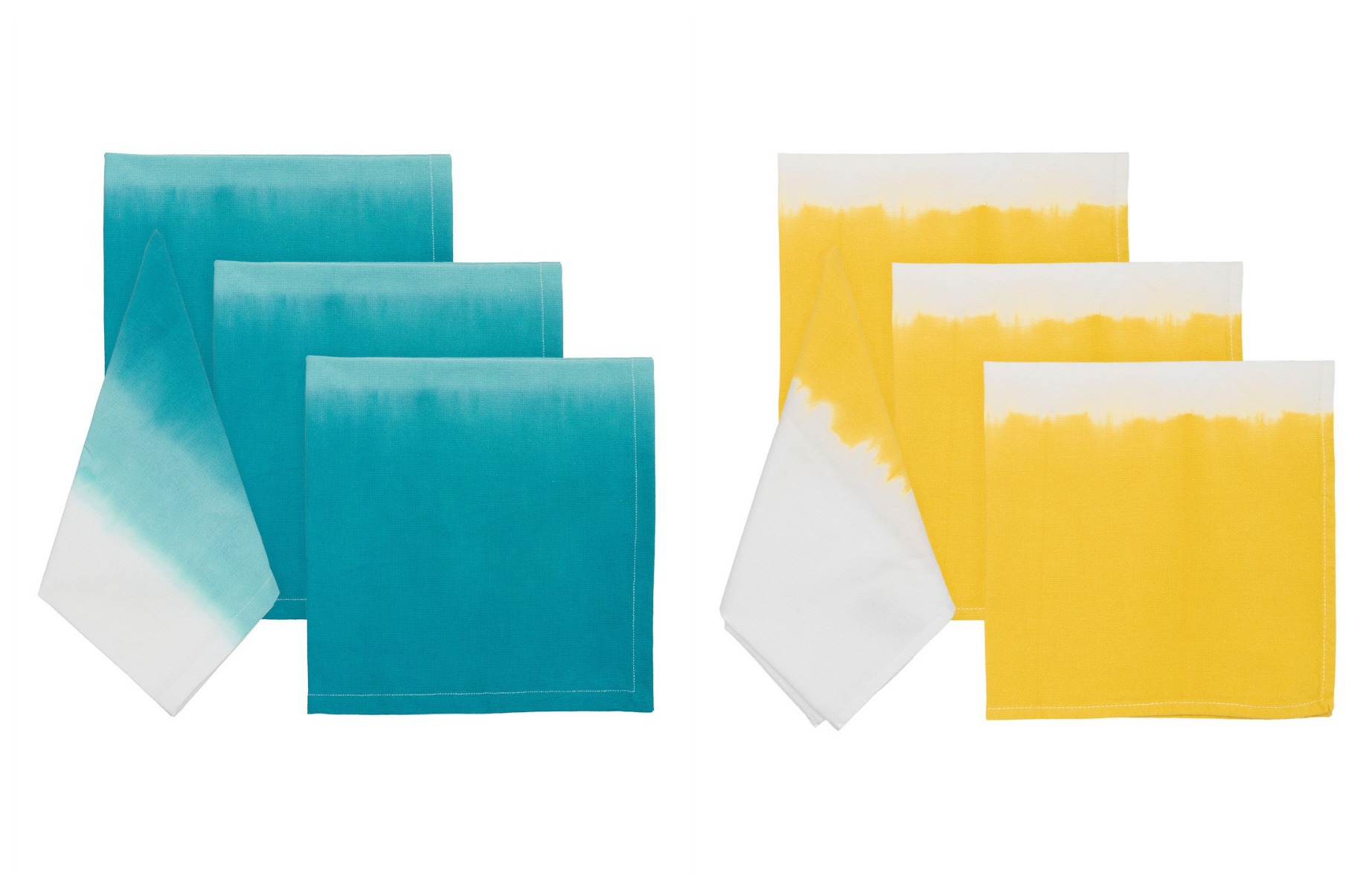 Cool cloth napkins bring ombre to your kitchen