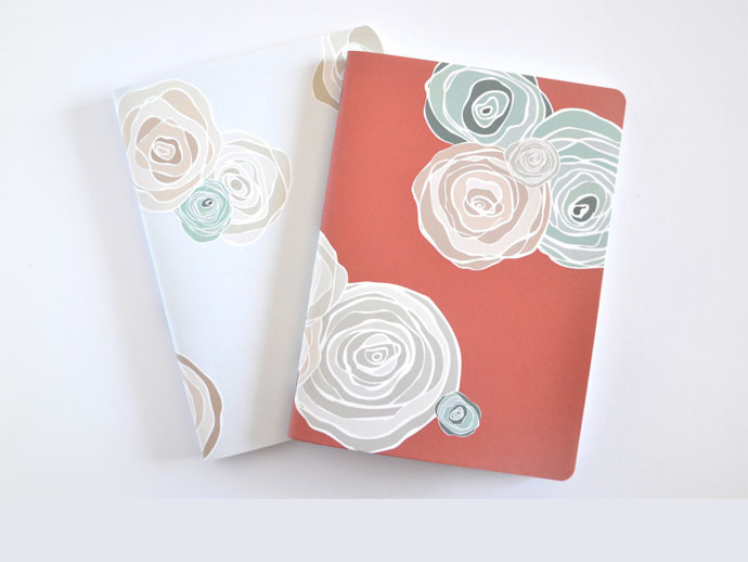 mother's day gift: handstitched floral journals  | cool mom picks