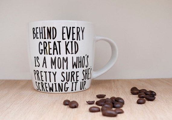 Funny mom mug for Mother's Day - behind every great mom... | Avonnie Studio on Etsy