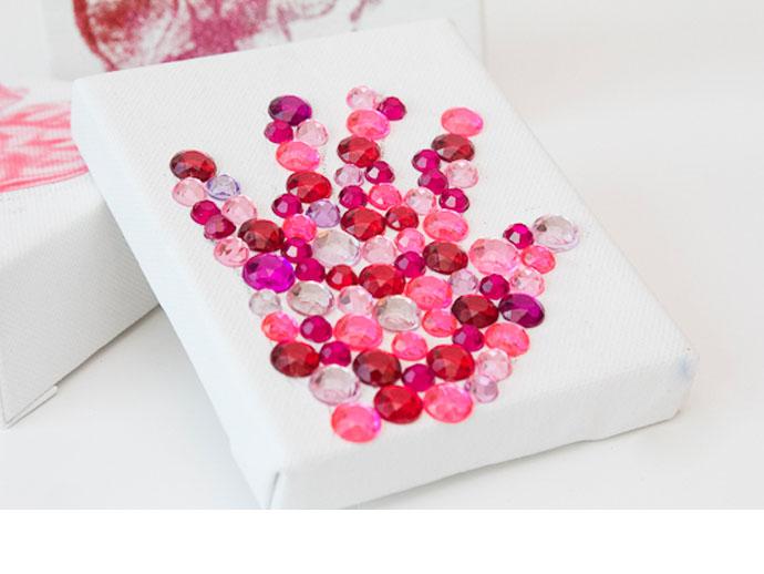 glitter-and-rhinestone-handprint-art