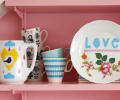 mother's day gift: hand painted vintage love plate  | cool mom picks