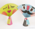 mother's day gift: handmade paper fans  | cool mom picks