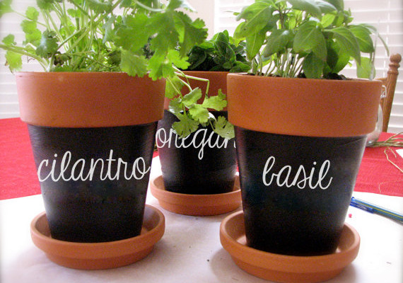 Custom herb labels for flowerpots | Zesty Graphics on Etsy
