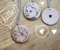 mother's day gift: illustrated custom pendant | cool mom picks